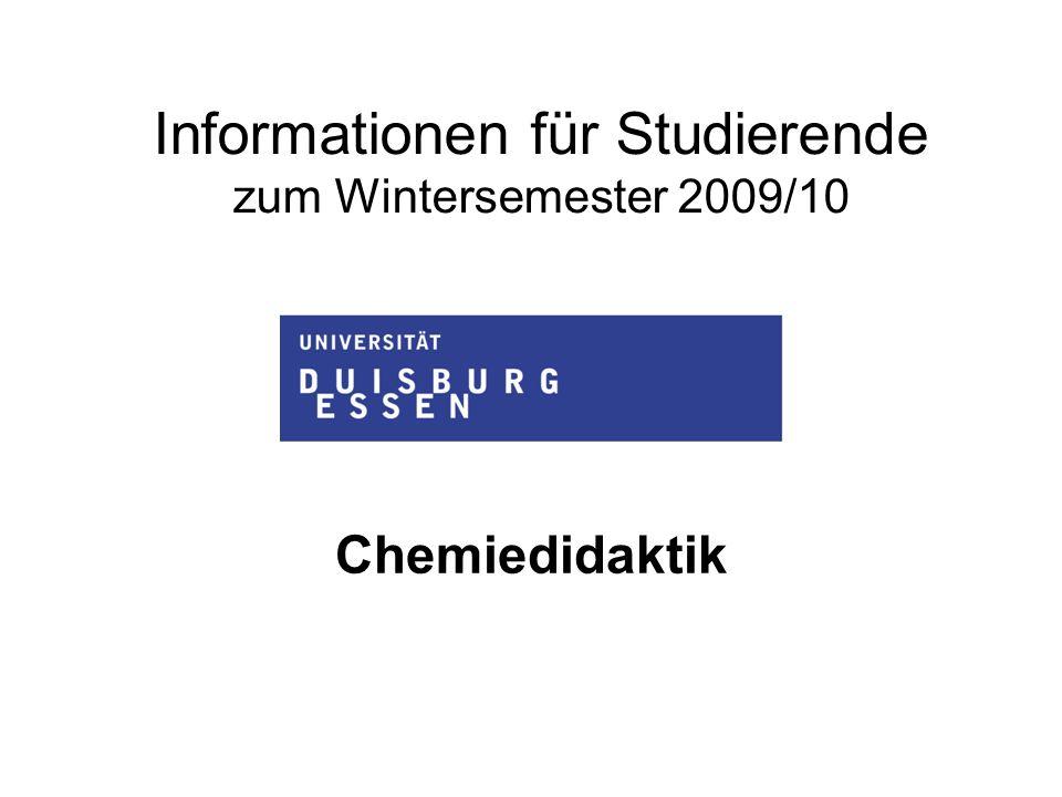 Informationen für Studierende zum Wintersemester 2009/10