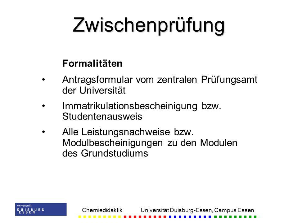 Zwischenprüfung Formalitäten