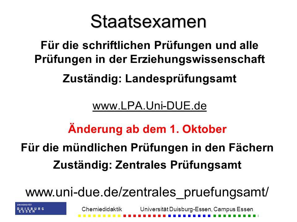 Zuständig: Landesprüfungsamt Änderung ab dem 1. Oktober