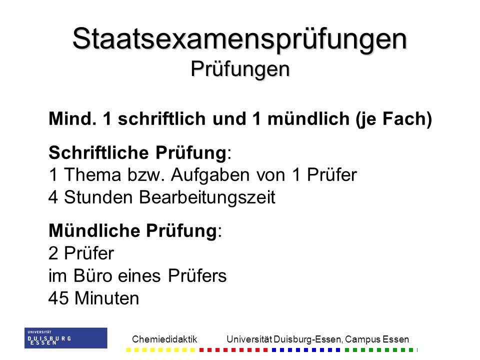 Staatsexamensprüfungen Prüfungen