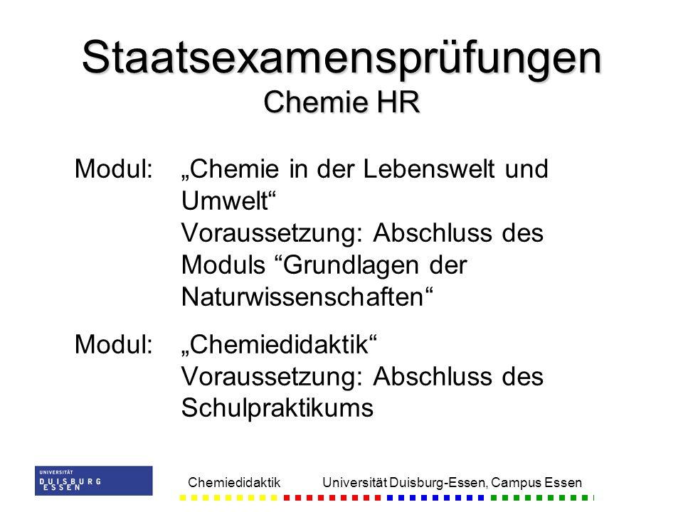 Staatsexamensprüfungen Chemie HR