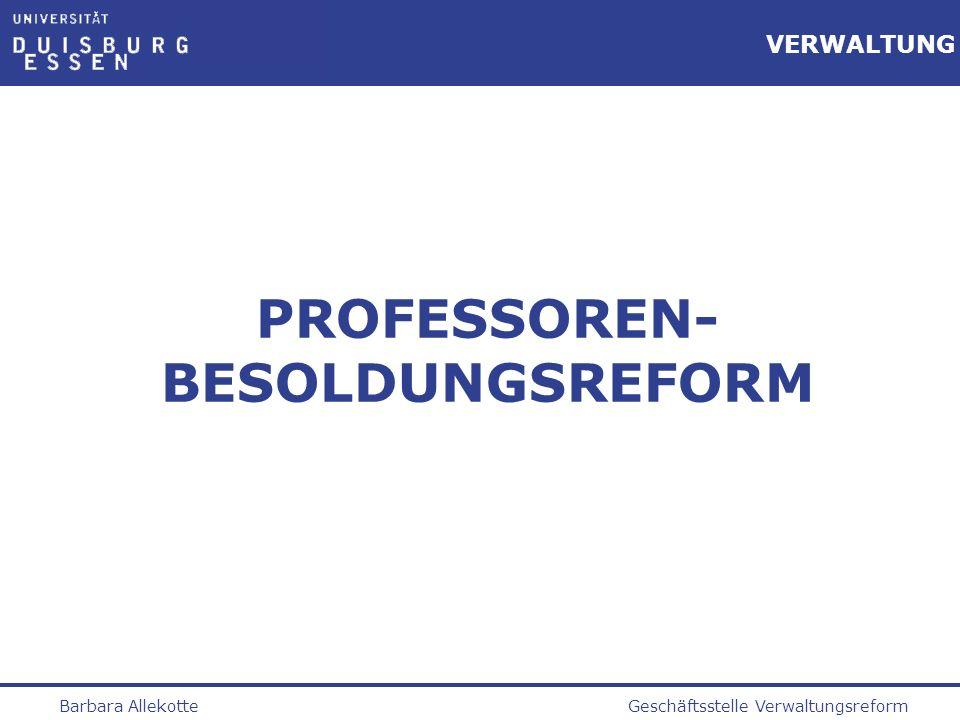 PROFESSOREN-BESOLDUNGSREFORM