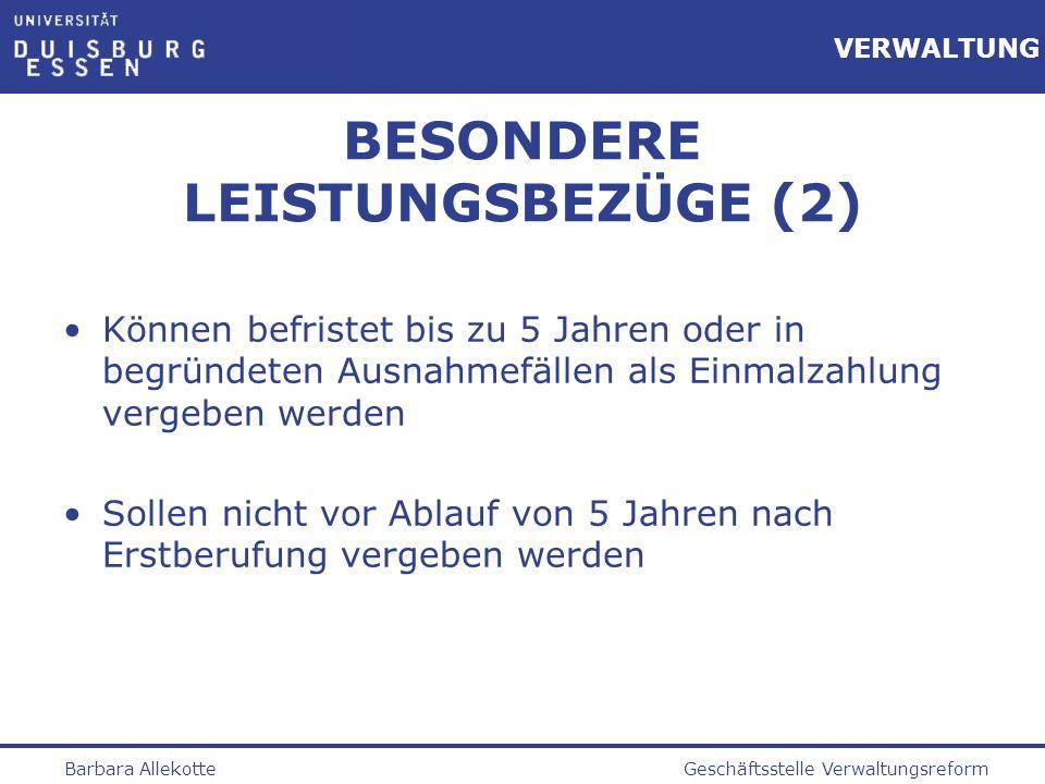 BESONDERE LEISTUNGSBEZÜGE (2)