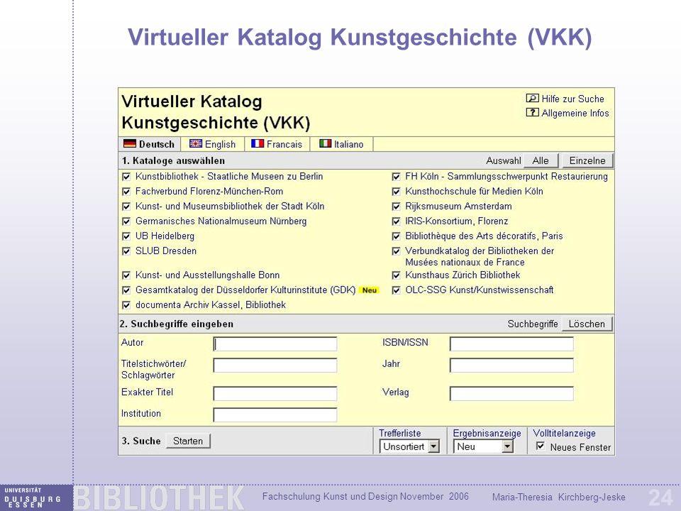 Virtueller Katalog Kunstgeschichte (VKK)