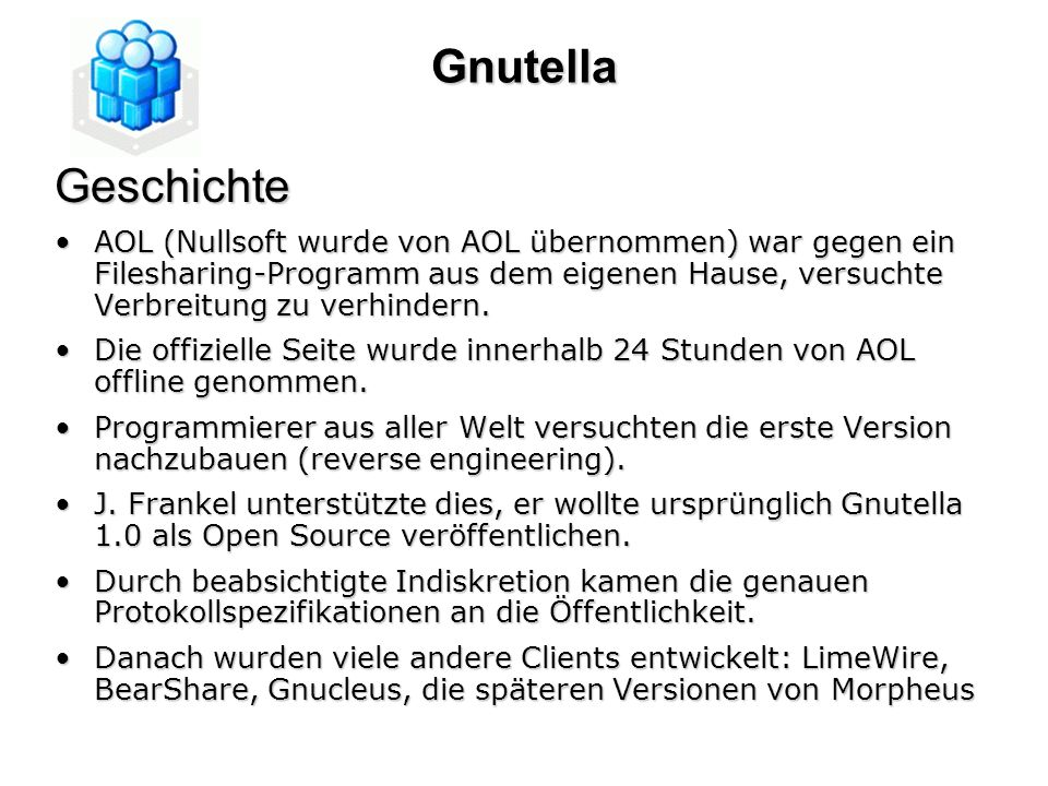 GnutellaGeschichte.