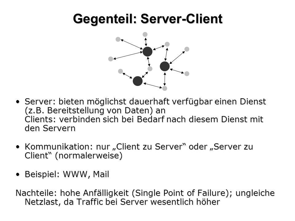 Gegenteil: Server-Client