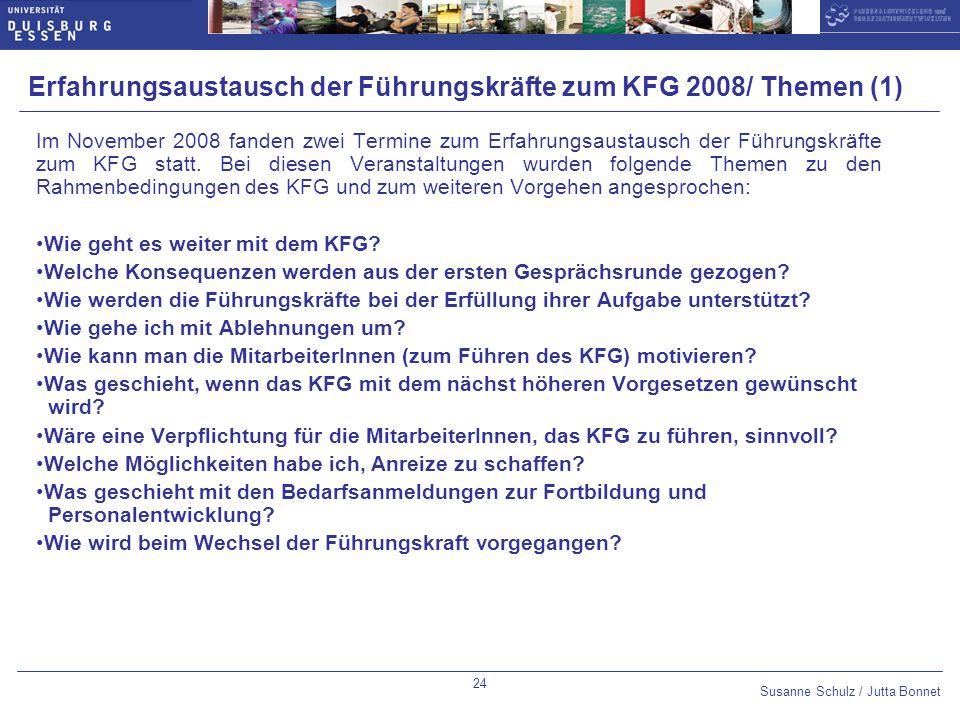 Erfahrungsaustausch der Führungskräfte zum KFG 2008/ Themen (1)