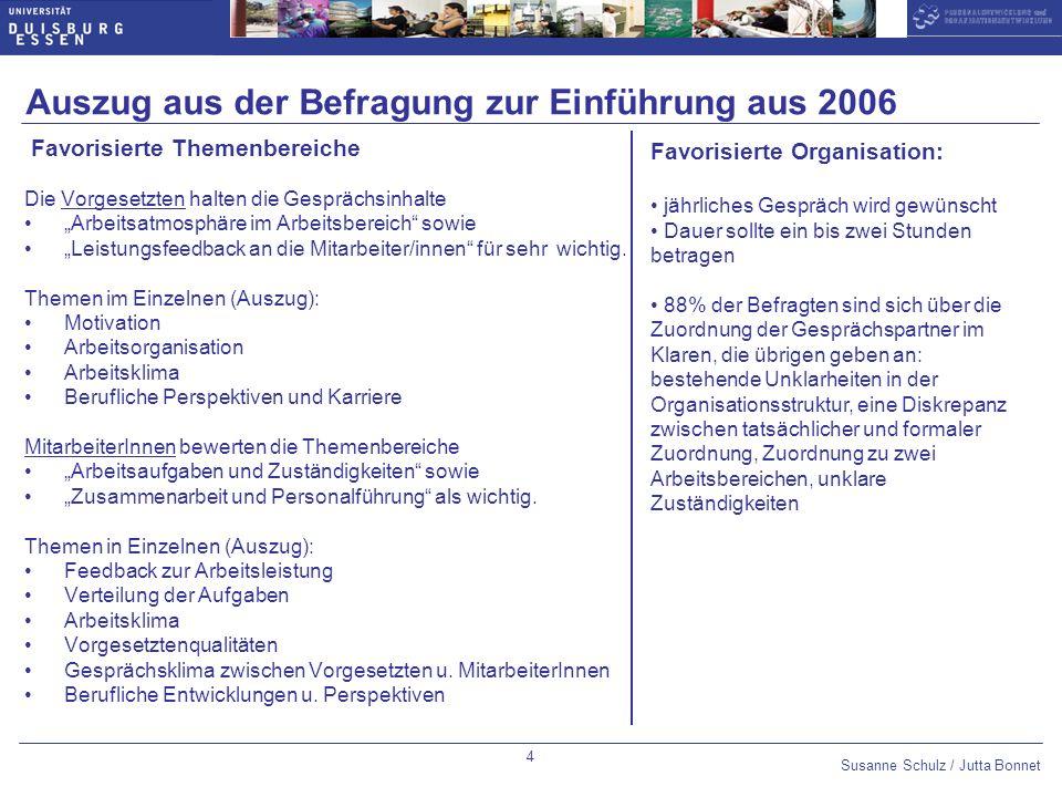 Auszug aus der Befragung zur Einführung aus 2006