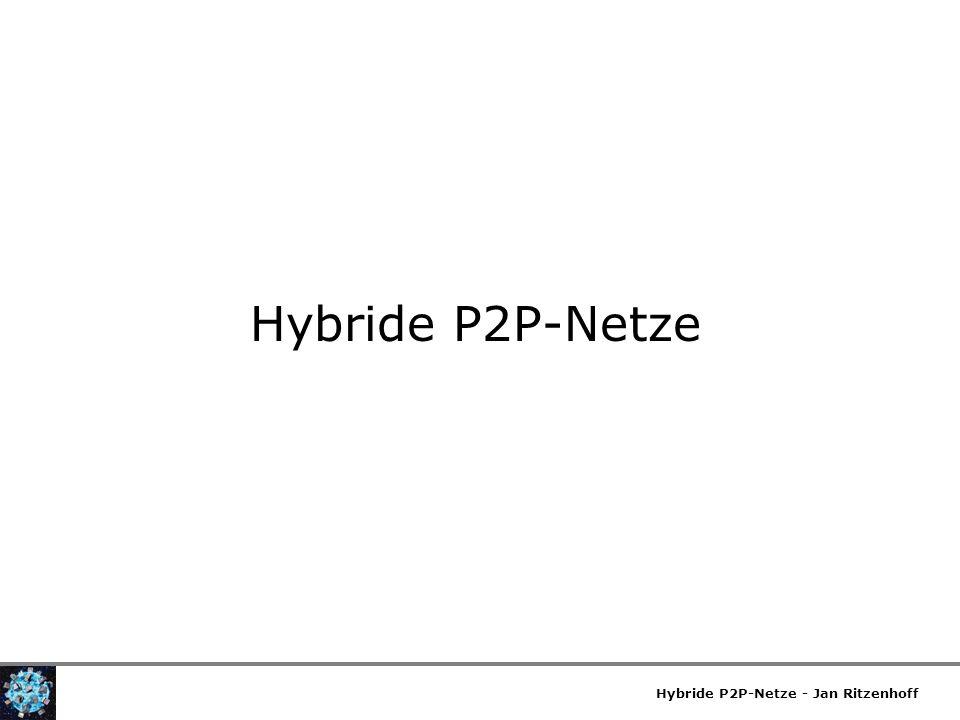 Hybride P2P-Netze Hybride P2P-Netze - Jan Ritzenhoff