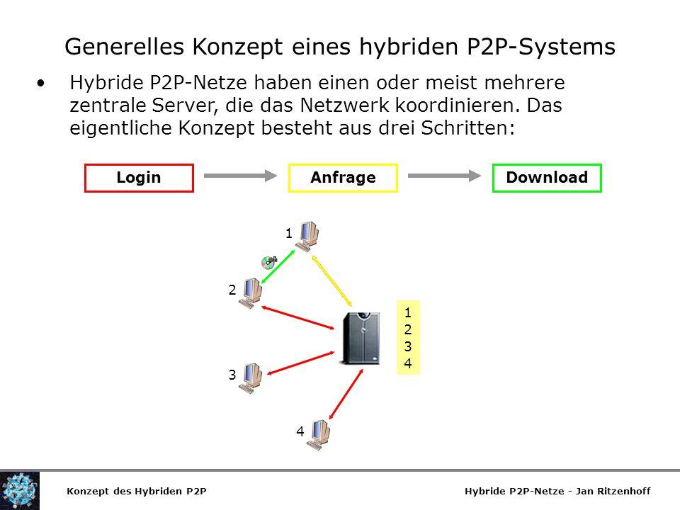 Generelles Konzept eines hybriden P2P-Systems