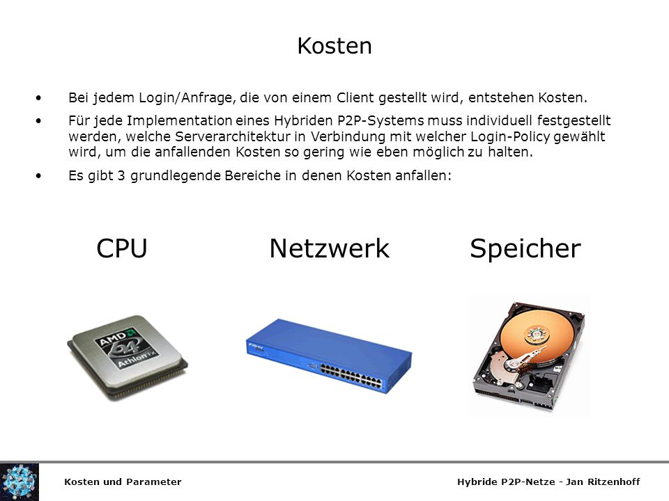 CPU Netzwerk Speicher Kosten