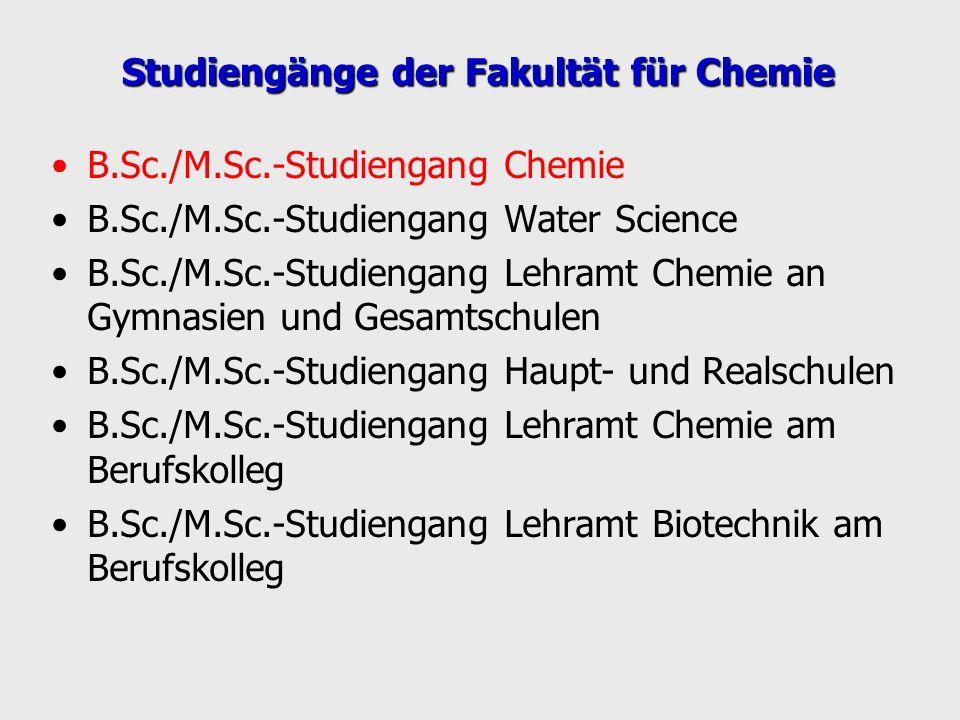 Studiengänge der Fakultät für Chemie