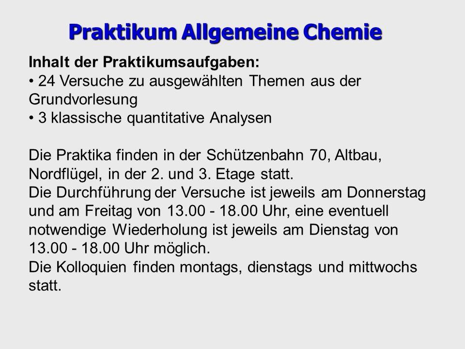 Praktikum Allgemeine Chemie
