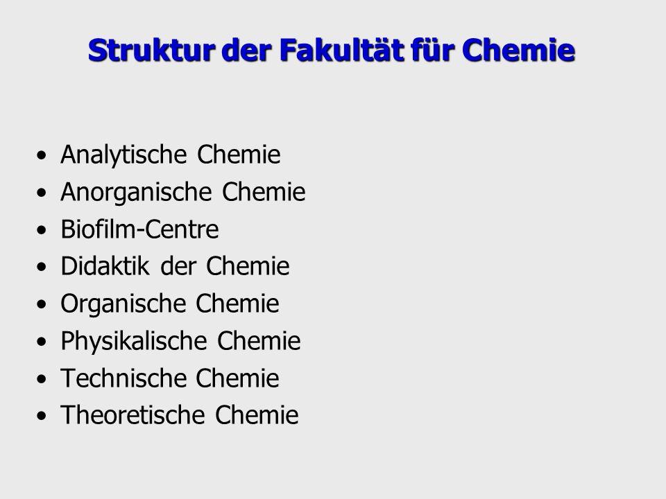 Struktur der Fakultät für Chemie