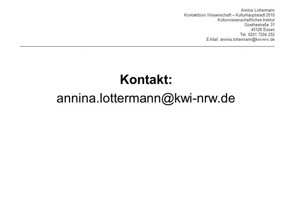 Kontakt: annina.lottermann@kwi-nrw.de