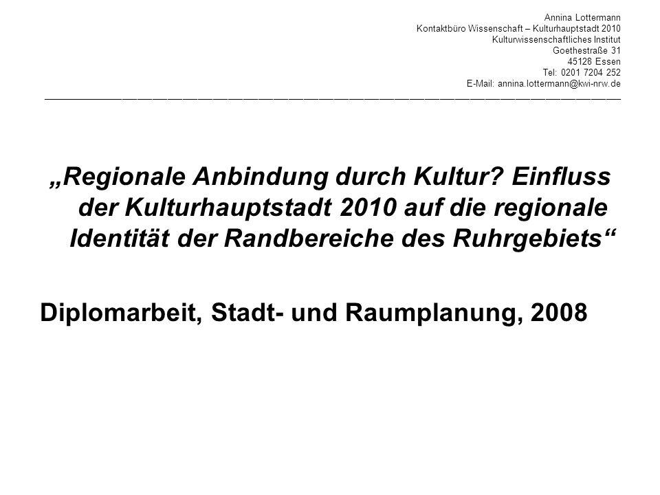 Diplomarbeit, Stadt- und Raumplanung, 2008