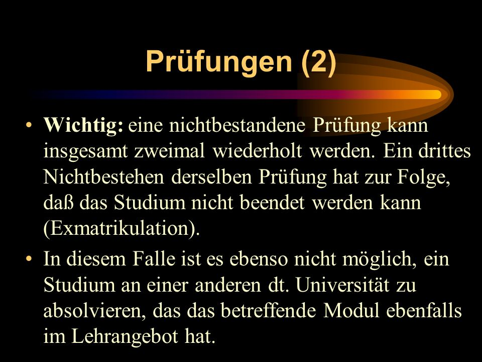 Prüfungen (2)