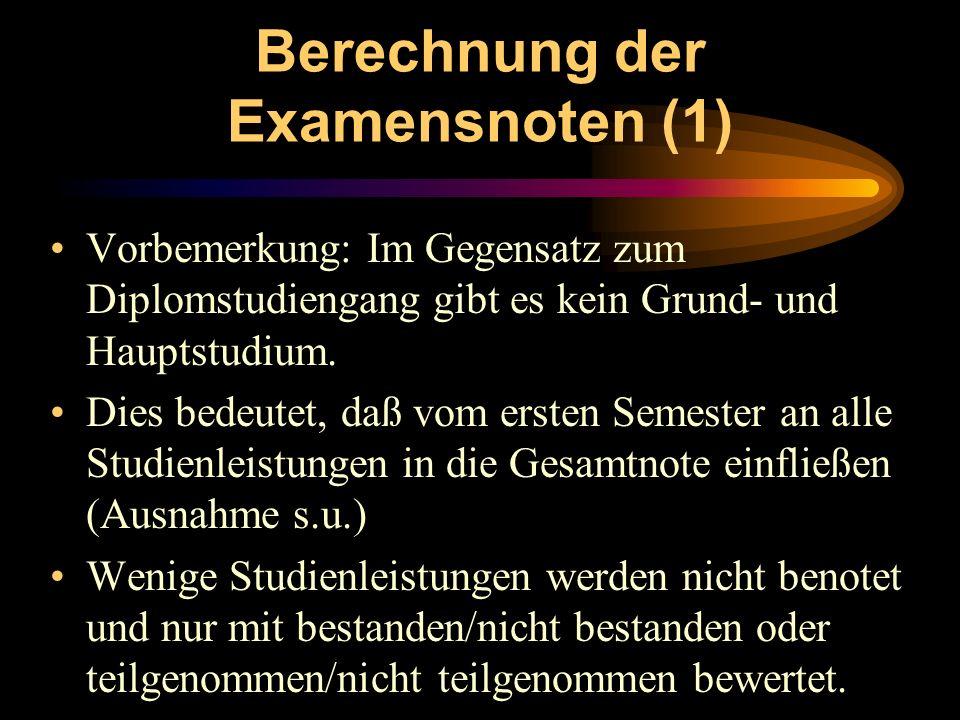 Berechnung der Examensnoten (1)