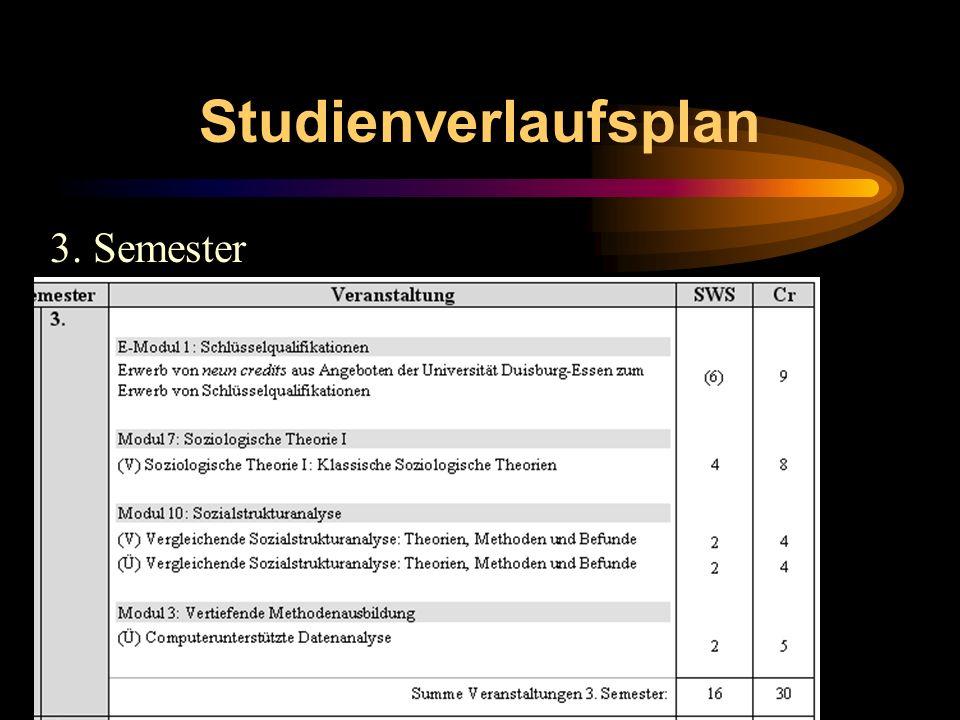 Studienverlaufsplan 3. Semester