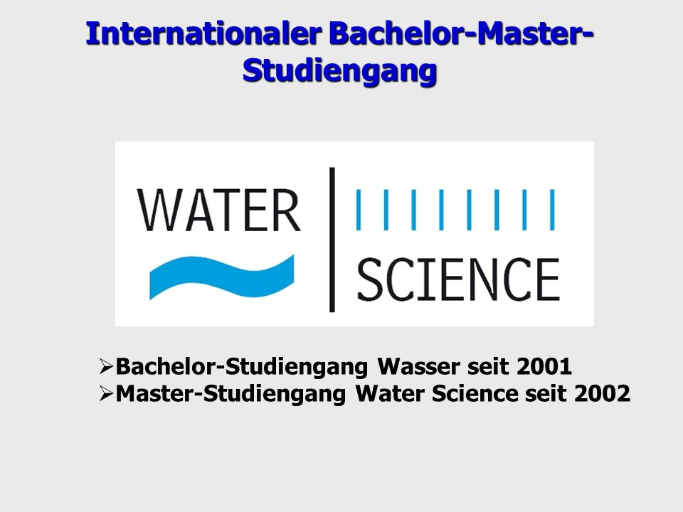 Internationaler Bachelor-Master-Studiengang
