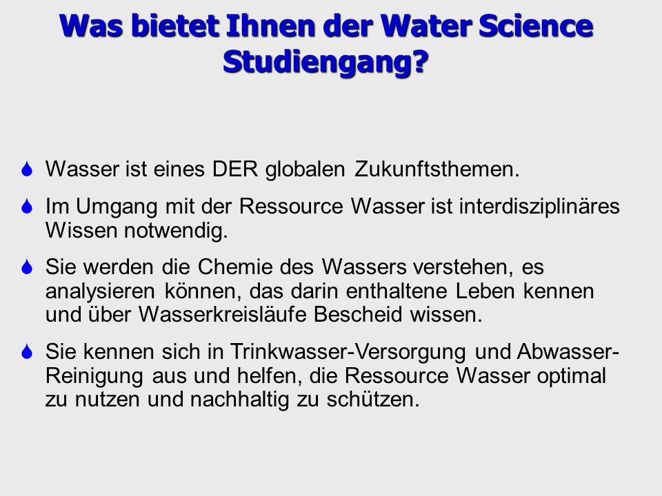 Was bietet Ihnen der Water Science Studiengang