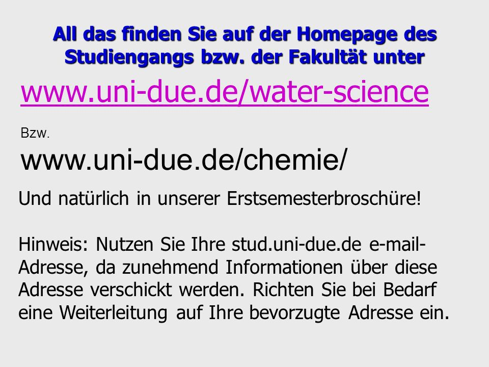www.uni-due.de/water-science www.uni-due.de/chemie/