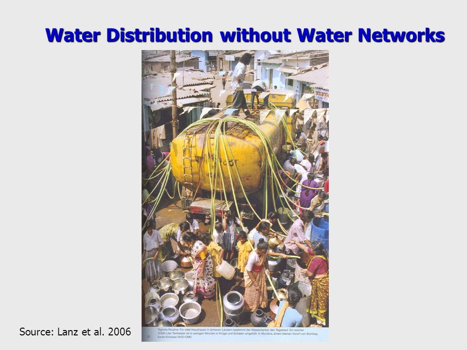 Water Distribution without Water Networks