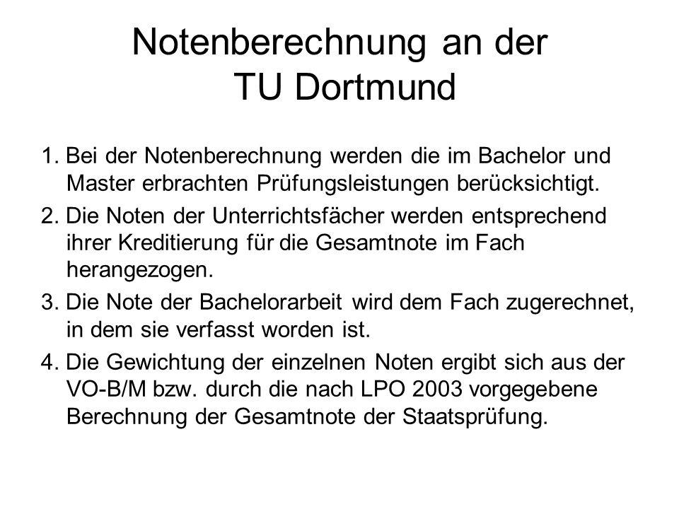 Notenberechnung an der TU Dortmund