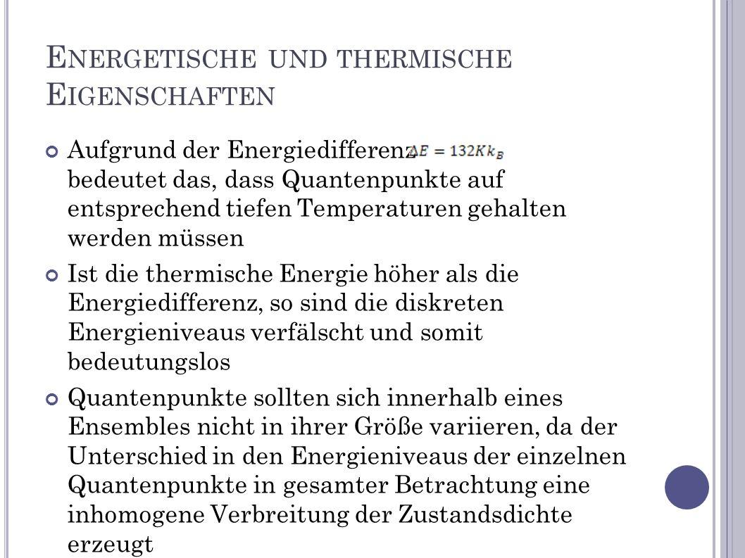 Energetische und thermische Eigenschaften