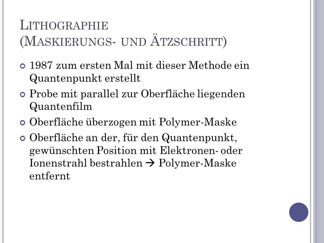 Lithographie (Maskierungs- und Ätzschritt)