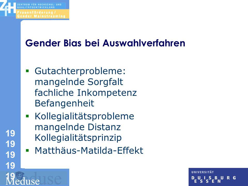 Gender Bias bei Auswahlverfahren