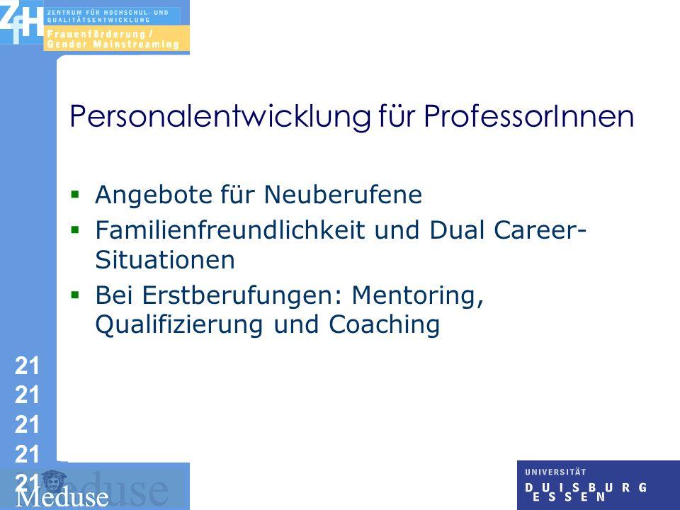 Personalentwicklung für ProfessorInnen