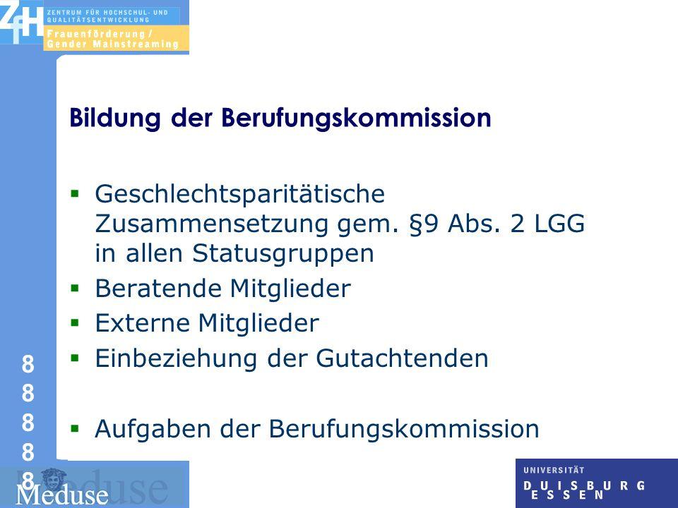 Bildung der Berufungskommission