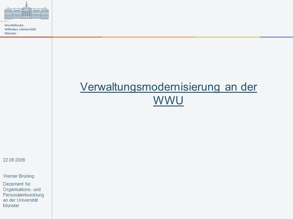 Verwaltungsmodernisierung an der WWU