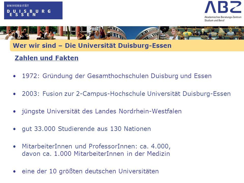 Wer wir sind – Die Universität Duisburg-Essen