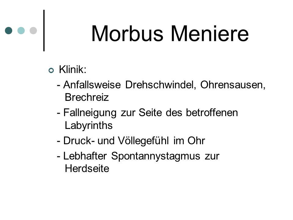 Morbus Meniere Klinik: