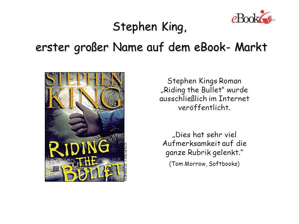 Stephen King, erster großer Name auf dem eBook- Markt