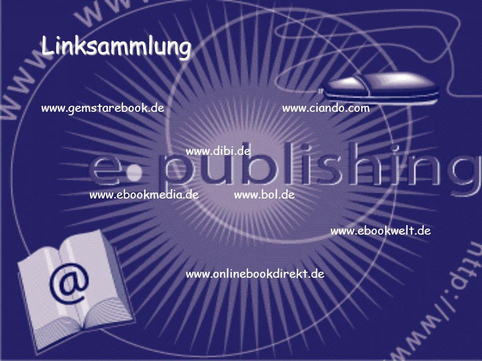 Linksammlung www.gemstarebook.de www.ciando.com www.dibi.de