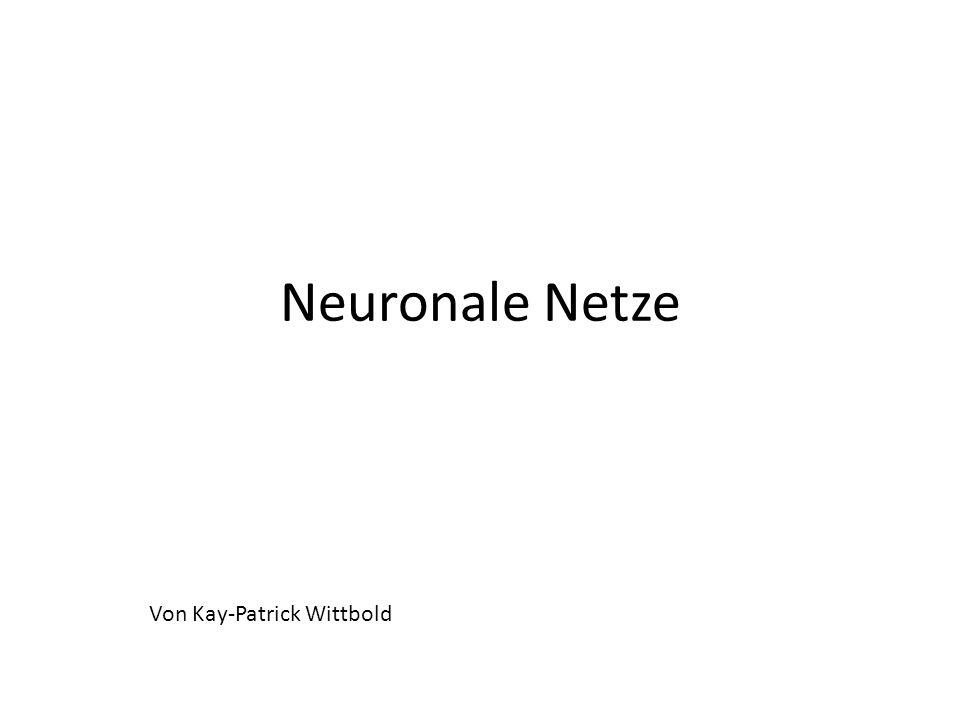 Neuronale Netze Von Kay-Patrick Wittbold