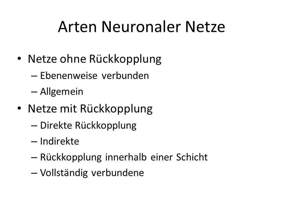 Arten Neuronaler Netze