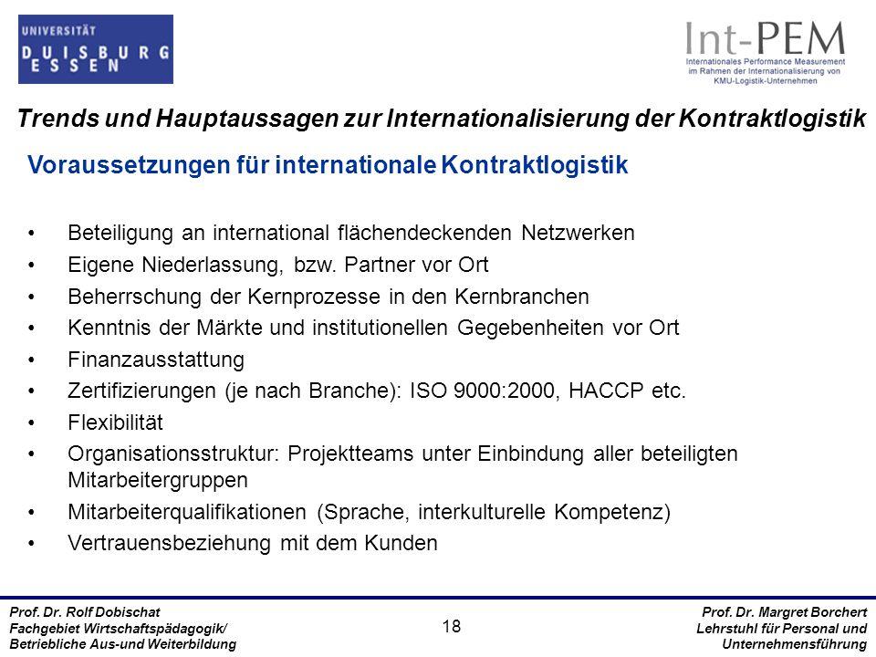 Voraussetzungen für internationale Kontraktlogistik