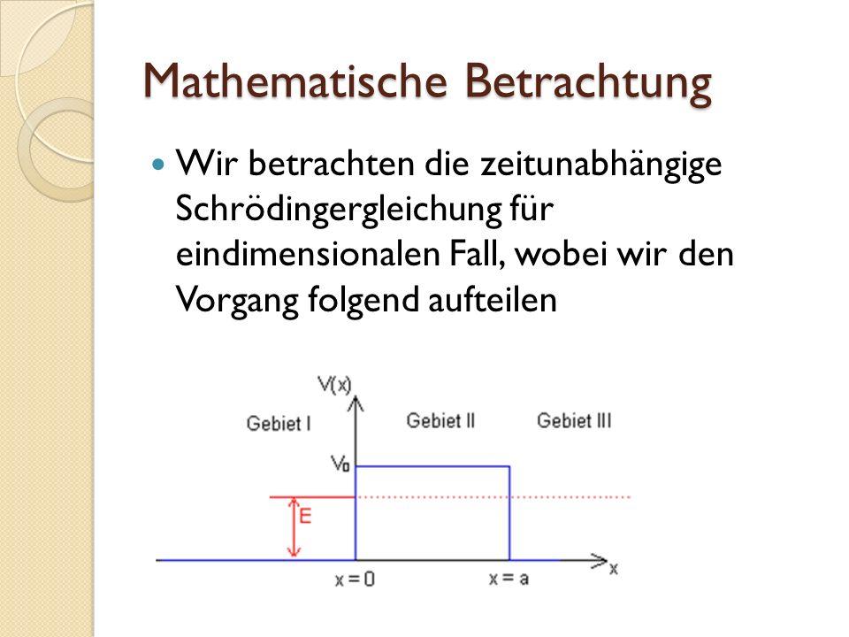 Mathematische Betrachtung