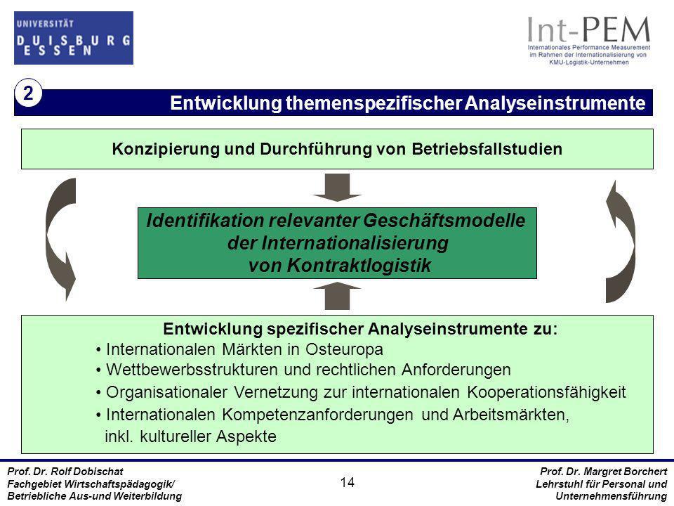 Entwicklung themenspezifischer Analyseinstrumente 2