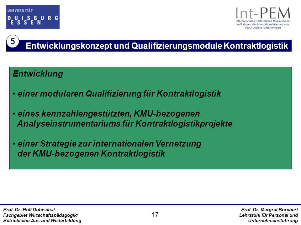 Entwicklungskonzept und Qualifizierungsmodule Kontraktlogistik