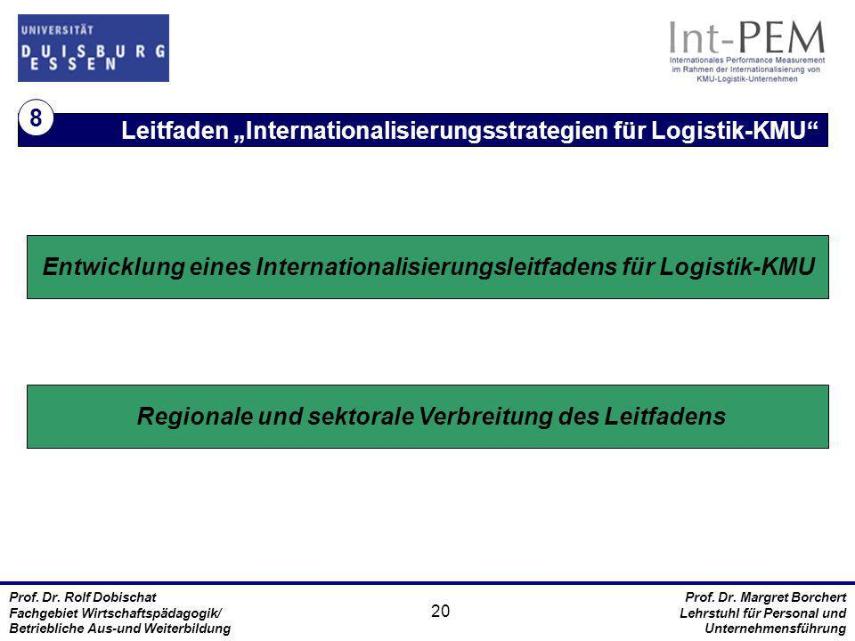 """Leitfaden """"Internationalisierungsstrategien für Logistik-KMU 8"""