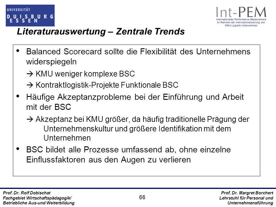 Literaturauswertung – Zentrale Trends
