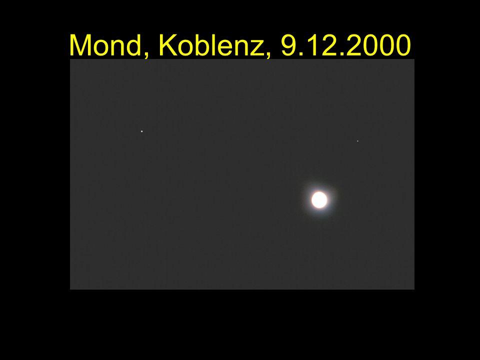 Mond, Koblenz, 9.12.2000 Mond, Jupiter, Saturn. Koblenz, 9.12.2000