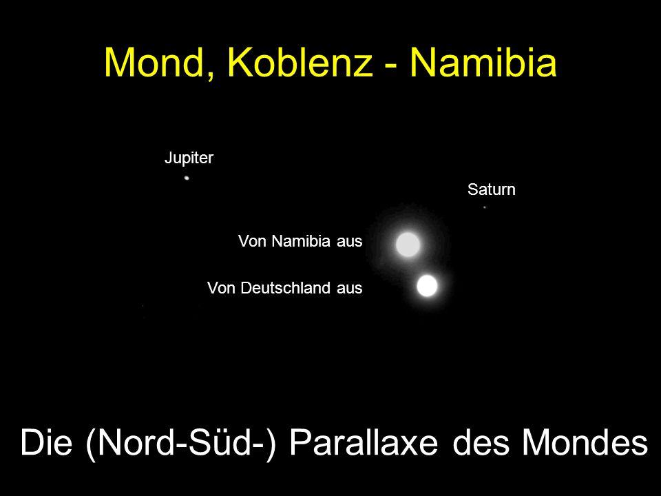 Die (Nord-Süd-) Parallaxe des Mondes