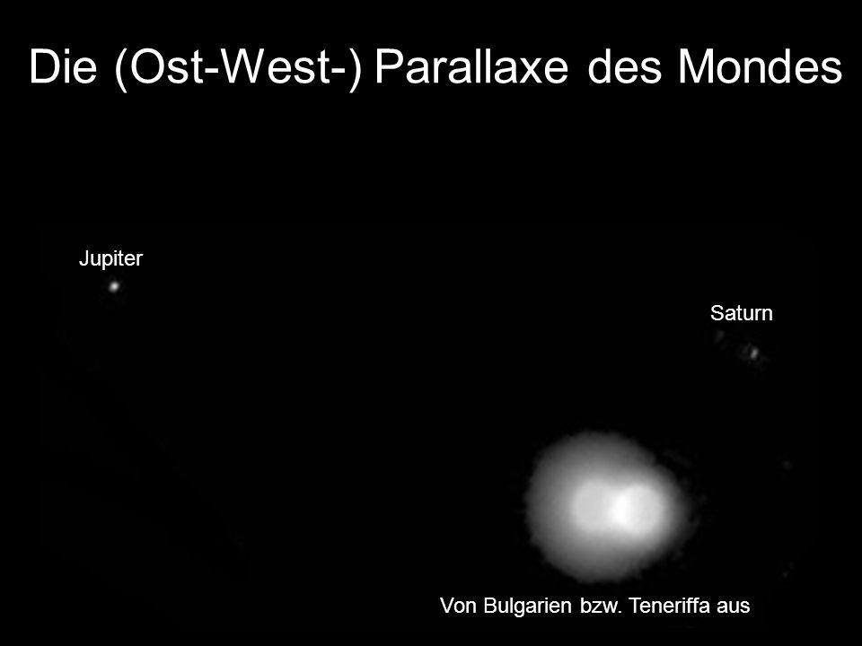 Die (Ost-West-) Parallaxe des Mondes