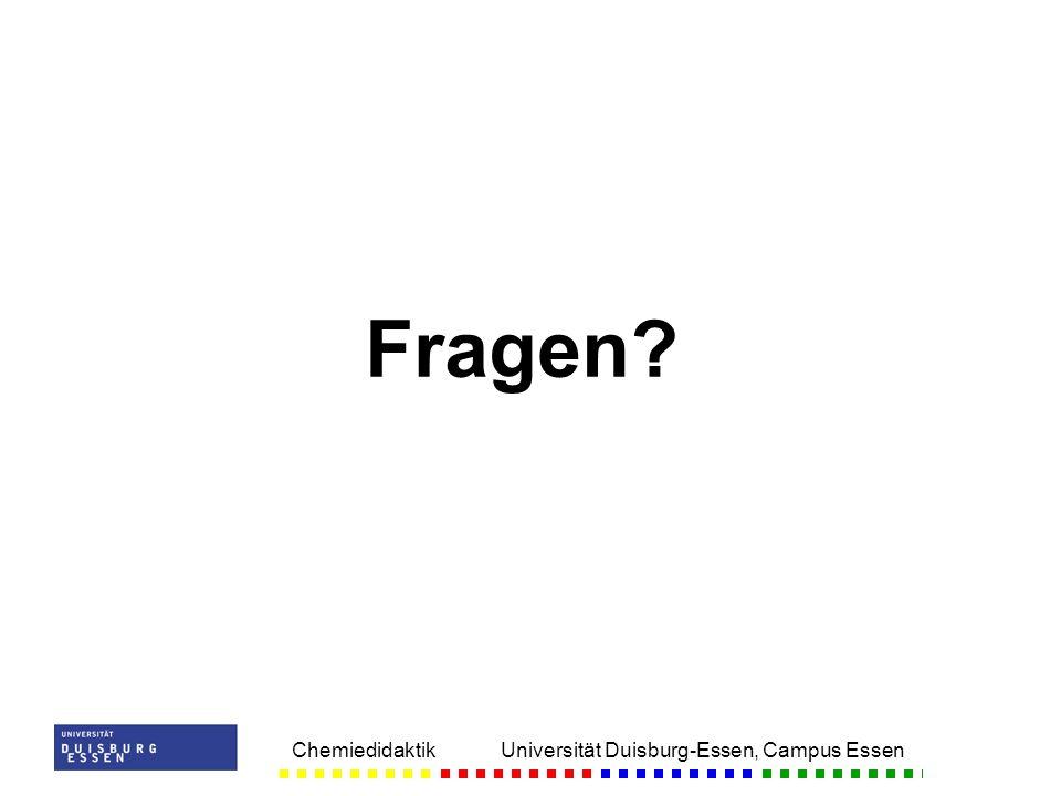 Fragen Chemiedidaktik Universität Duisburg-Essen, Campus Essen